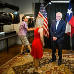 Vermont senator Bernie Sanders does a one-on-one interview with NBC 5 political reporter. ... Julie Fine before a rally at the Verizon Theater on Thursday, April 20, 2017, in Grand Prairie,  ...