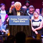 Vermont senator Bernie Sanders addresses a rally at the Verizon Theater on Thursday, April 20, 2017, in Grand Prairie, Texas. Sanders, the runner-up in the 2016 Democratic contest for presid ...