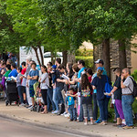 Pro-life advocates line Greenville Avenue in prayer during a Good Friday vigil outside the Southwestern Women?s Surgery Center on Friday, April 14, 2017, in Dallas. (Smiley N. Pool/The Dal ...